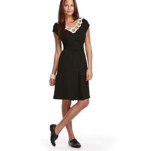 Libertine Target black tan crochet neck dress